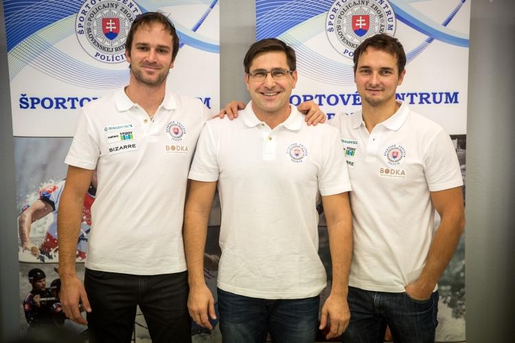 Juraj Minčík s bratrancami Škantárovcami